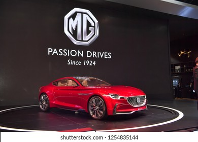 NONTHABURI - NOVEMBER 28: MG E-Motion Concept car on display at The 35th Thailand International Motor Expo on November 28, 2018 in Nonthaburi, Thailand.