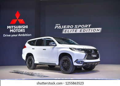 NONTHABURI - NOVEMBER 28: Mitsubishi Pajero Sport SUV on display at The 35th Thailand International Motor Expo on November 28, 2018 in Nonthaburi, Thailand.
