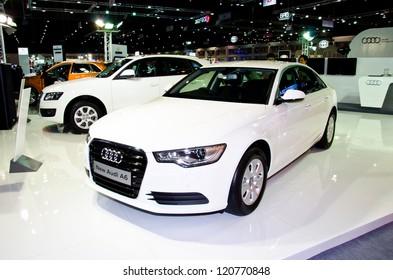 NONTHABURI - NOVEMBER 28: The New Audi A6 car on display at The 29th Thailand International Motor Expo  on November 28, 2012 in Nonthaburi, Thailand.