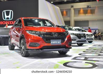 NONTHABURI - NOVEMBER 28:Honda HR-V car on display at The 35th Thailand International Motor Expo on November 28, 2018 in Nonthaburi, Thailand.