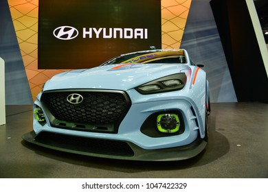 NONTHABURI - NOVEMBER 29 : Hyundai RN30 Concept car on display at Thailand International Motor Expo 2017 on November 29, 2017 in Nonthaburi, Thailand.
