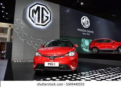 NONTHABURI - NOVEMBER 29 : MG 3 car on display at Thailand International Motor Expo 2017 on November 29, 2017 in Nonthaburi, Thailand.