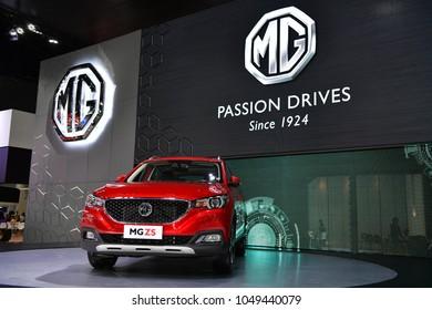 NONTHABURI - NOVEMBER 29 : MG Zs car on display at Thailand International Motor Expo 2017 on November 29, 2017 in Nonthaburi, Thailand.