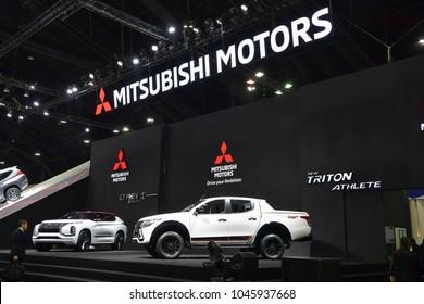 NONTHABURI - NOVEMBER 29 : Mitsubishi Motor on display at Thailand International Motor Expo 2017 on November 29, 2017 in Nonthaburi, Thailand.
