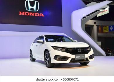 NONTHABURI - NOVEMBER 30:  Honda Civic car on display at Thailand International Motor Expo 2016 on November 30, 2016 in Nonthaburi, Thailand.