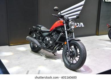 NONTHABURI - NOVEMBER 30:  Honda motorcycle on display at Thailand International Motor Expo 2016 on November 30, 2016 in Nonthaburi, Thailand.