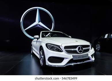 NONTHABURI - NOVEMBER 30 : The Mercedes Benz S 300 Cabriolet on display at Thailand International Motor Expo 2016 on December 8, 2016 in Nonthaburi, Thailand.