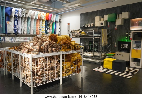 Nonthaburi, Thailand - April 24, 2019 : Interior of IKEA store in Thailand. Ikea was founded in Sweden in 1943, Ikea is the world's largest furniture retailer.