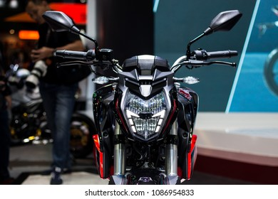 Nonthaburi , Thailand - April 7, 2018 : GPX razer 220 demon 150 gn full led . naked bigbike style or street bike . electronic motorcycle sports design .