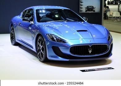 NONTHABURI, THAILAND - December 01: The Maserati Gran Turismo MC Stradale is on display at Thailand International Motor Expo 2014 on December 01, 2014 in Nonthaburi, Thailand.