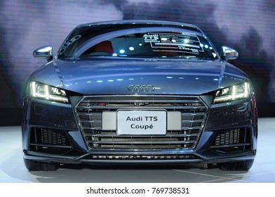 NONTHABURI, THAILAND - December 02: The Audi TTS Coupe Quattro is on display at Thailand International Motor Expo 2017 on December 02, 2017 in Nonthaburi, Thailand.