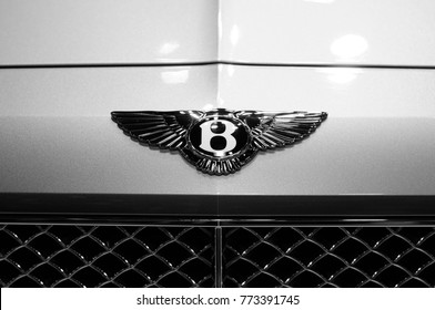 NONTHABURI, THAILAND - December 02: Details of a Bentley car on display at Thailand International Motor Expo 2017 on December 02, 2017 in Nonthaburi, Thailand.
