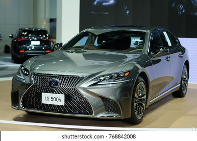 NONTHABURI, THAILAND - December 02: The Lexus LS 500h is on display at Thailand International Motor Expo 2017 on December 02, 2017 in Nonthaburi, Thailand.
