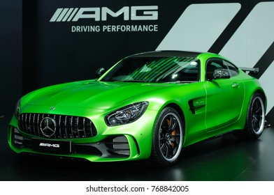 NONTHABURI, THAILAND - December 02: The Mercedes Benz AMG GT R is on display at Thailand International Motor Expo 2017 on December 02, 2017 in Nonthaburi, Thailand.
