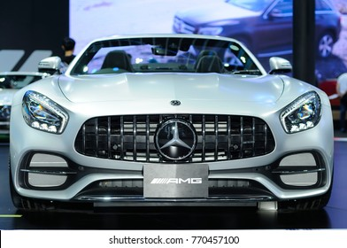 NONTHABURI, THAILAND - December 02: The Mercedes Benz AMG GT C is on display at Thailand International Motor Expo 2017 on December 02, 2017 in Nonthaburi, Thailand.