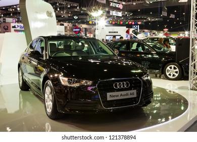 NONTHABURI, THAILAND - DECEMBER 1: Audi A6  in Motor Expo 2012 on December 01, 2012 in Nonthaburi, Thailand