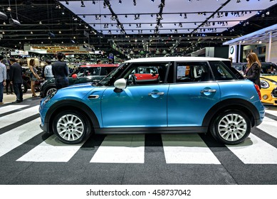 NONTHABURI, THAILAND - DECEMBER 1: The Mini Hatch 5-door is on display at the 32nd Thailand International Motor Expo 2015 on December 1, 2015 in Nonthaburi, Thailand.