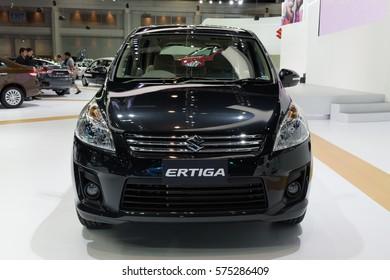 NONTHABURI, THAILAND - DECEMBER 1: The Suzuki Ertiga is on display at the 32nd Thailand International Motor Expo 2015 on December 1, 2015 in Nonthaburi, Thailand.