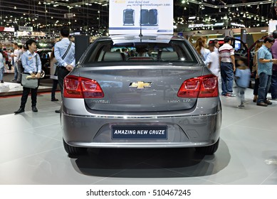 NONTHABURI, THAILAND - DECEMBER 13: The Chevrolet Amazing New Cruze is on display at the 32nd Thailand International Motor Expo 2015 on December 13, 2015 in Nonthaburi, Thailand.