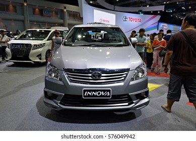 NONTHABURI, THAILAND - DECEMBER 13: The Toyota Innova is on display at the 32nd Thailand International Motor Expo 2015 on December 13, 2015 in Nonthaburi, Thailand.