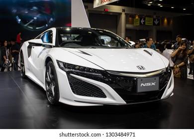 Nonthaburi, THAILAND, December 2018 : Honda NSX on display in Bangkok International Motor Expo 2018 at Impact Arena exhibition Muangthong Thani in Thailand.