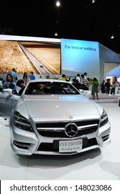 NONTHABURI, THAILAND - DECEMBER 3: The Mercedes Benz CLS 250 CDI is on display at the 29th Thailand International Motor Expo on December 03, 2012 in Nonthaburi, Thailand