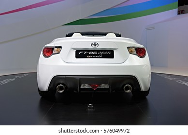 NONTHABURI, THAILAND - DECEMBER 8: The Toyota FT-86 Open Concept is on display at the 32nd Thailand International Motor Expo 2015 on December 8, 2015 in Nonthaburi, Thailand.