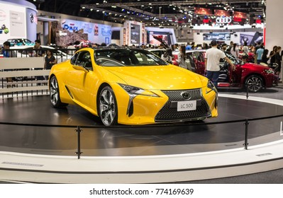 NONTHABURI, THAILAND - DECEMBER 9,2017 : View of Lexus lc 500 car on display at Thailand International Motor Expo 2017, exhibition of vehicles for sale in Nonthaburi ,Thailand