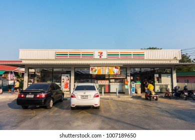 NONTHABURI , THAILAND JAN 20 2018 7-11 is the convenience shop and store have a lot of franchies in Thailand
