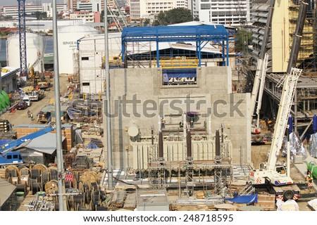 NONTHABURI THAILAND JANUARY 19 Construction EGA Ts Stock Photo (Edit
