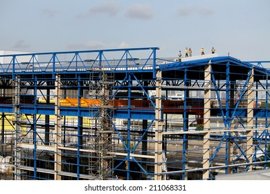 NONTHABURI -THAILAND - JULY 15 : Construction of EGAT's North Bangkok gas combine cycle power plant 800 MW on July 15, 2014 in Nonthaburi, Thailand