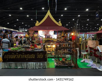 Nonthaburi/ Thailand - Jun 23,2019 : People are shopping in Otop Midyear 2019 trade fair at Impact Challenger hall1-3