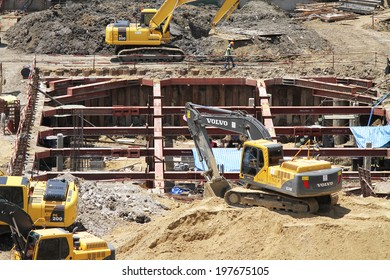 NONTHABURI -THAILAND - June 08 : Construction of EGAT's North Bangkok gas combine cycle power plant 800 MW on May 28, 2014 in Nonthaburi, Thailand