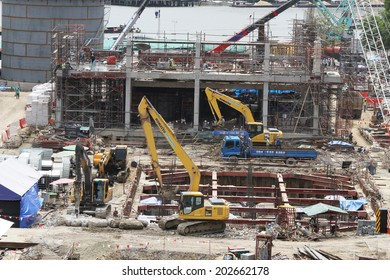 NONTHABURI -THAILAND - JUNE 24 : Construction of EGAT's North Bangkok gas combine cycle power plant 800 MW on June 24, 2014 in Nonthaburi, Thailand