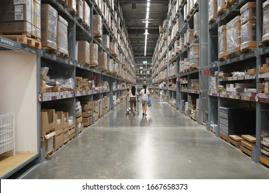 Nonthaburi, Thailand - Mar 8, 2020 - Customer shopping at IKEA Store in Thailand. IKEA is the world's largest furniture retailer and sells ready to assemble furniture