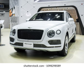 Nonthaburi, THAILAND, March 2018 : Bentley bentayga on display in Bangkok International Motor Show 2018 at Impact Arena exhibition Muangthong Thani in Thailand.