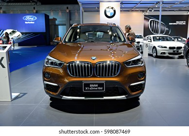 NONTHABURI, THAILAND - MARCH 22: The BMW X1 sDrive 18d is on display at the 37th Bangkok International Motor Show 2016  on March 22, 2016 in Nonthaburi, Thailand.