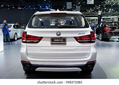NONTHABURI, THAILAND - MARCH 22: The BMW X5 Celebration Edition is on display at the 37th Bangkok International Motor Show 2016  on March 22, 2016 in Nonthaburi, Thailand.