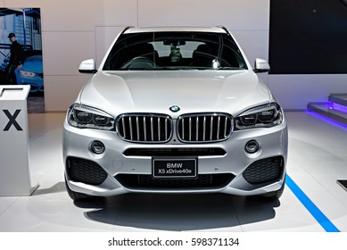 NONTHABURI, THAILAND - MARCH 22: The BMW X5 xDrive 40e is on display at the 37th Bangkok International Motor Show 2016  on March 22, 2016 in Nonthaburi, Thailand.