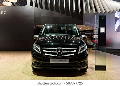 NONTHABURI, THAILAND - MARCH 22: The Mercedes Benz Vito Concept is on display at the 37th Bangkok International Motor Show 2016  on March 22, 2016 in Nonthaburi, Thailand.