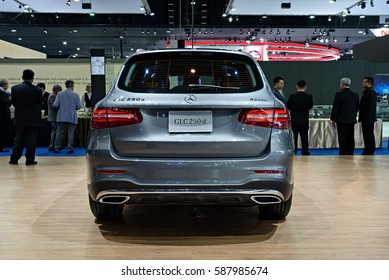 NONTHABURI, THAILAND - MARCH 22: The Mercedes Benz GLC 250d is on display at the 37th Bangkok International Motor Show 2016  on March 22, 2016 in Nonthaburi, Thailand.