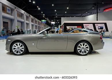 NONTHABURI, THAILAND - MARCH 25: The Rolls Royce Dawn is on display at the 37th Bangkok International Motor Show 2016  on March 25, 2016 in Nonthaburi, Thailand.