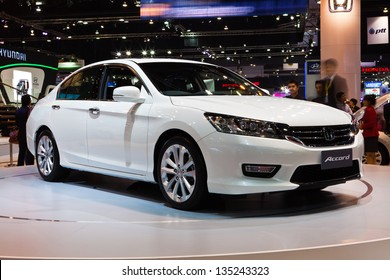 NONTHABURI, THAILAND - MARCH 26: The new Honda Accord showed in 34th Bangkok International Motor Show on March 26, 2013 in Nonthaburi, Thailand.