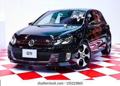NONTHABURI, THAILAND - MARCH 26 : Volkswagen Golf GTI 2.0 TSI showed in 34th Bangkok International Motor Show on March 26, 2013 in Nonthaburi, Thailand.