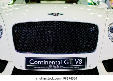 Bently images stock photos vectors shutterstock nonthaburi thailand march 28 the bently car continental gt v8 white model in voltagebd Image collections