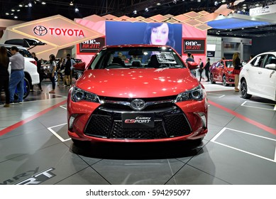 NONTHABURI, THAILAND - MARCH 28: The Toyota Camry ESport is on display the 37th Bangkok International Motor Show 2016  on March 28, 2016 in Nonthaburi, Thailand.
