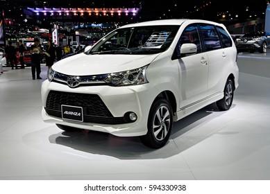 NONTHABURI, THAILAND - MARCH 28: The Toyota Avanza is on display the 37th Bangkok International Motor Show 2016  on March 28, 2016 in Nonthaburi, Thailand.