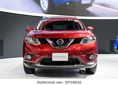 NONTHABURI, THAILAND - MARCH 30: The Nissan X-Trail is on display at the 36th Bangkok International Motor Show 2015 on March 30, 2015 in Nonthaburi, Thailand.