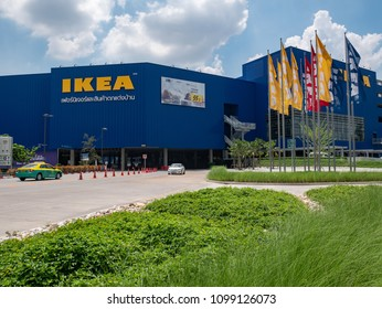 Nonthaburi, Thailand - MAY 24, 2018 : IKEA Store in Bangyai, Nonthaburi, Thailand. IKEA is the world's largest furniture retailer and sells ready to assemble furniture.