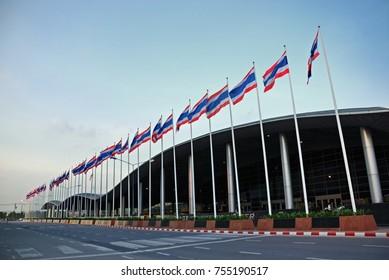 Nonthaburi, THAILAND - MAY29,2016 . Thailand flag  at IMPACT Exhibition and Novotel Bangkok Impact  Hotel.